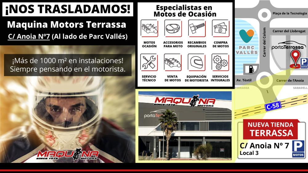 NOS TRASLADAMOS: Nueva tienda Maquina Motors en Terrassa