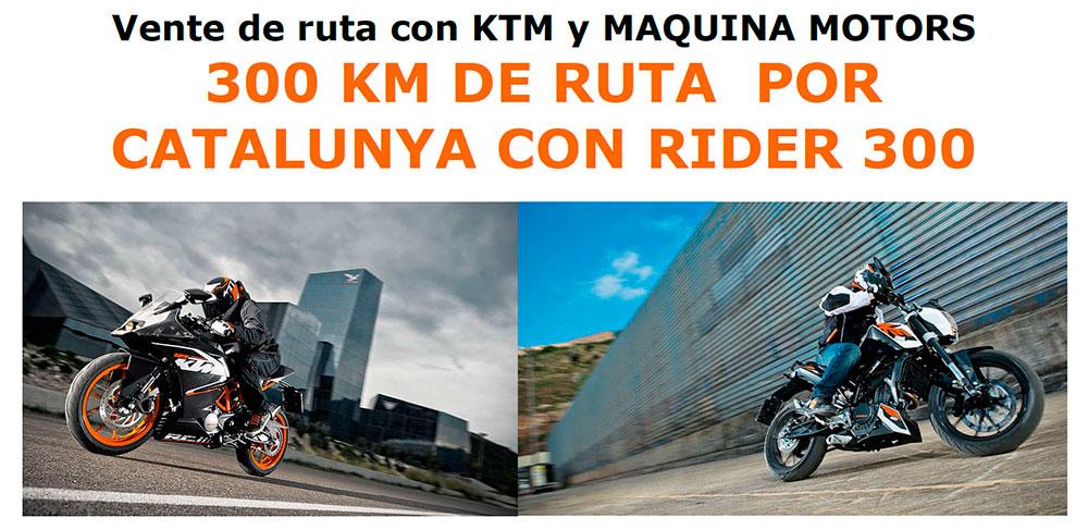 300 KM DE RUTA POR CATALUNYA CON TU MOTO KTM