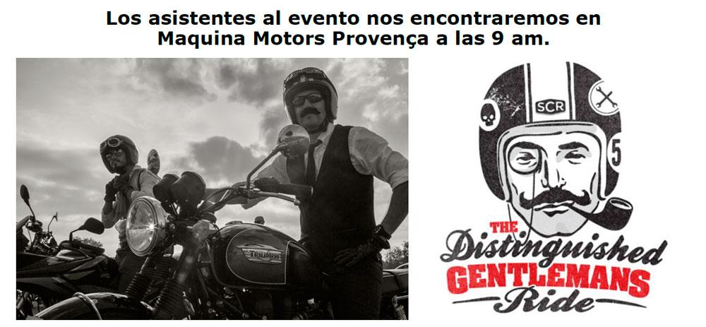 DOMINGO 27 CELEBRAMOS EL DISTINGUISHED GENTLEMAN'S RIDE – BARCELONA 2015