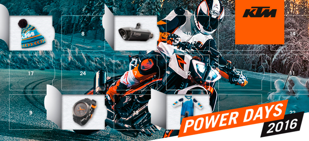 EMPIEZAN LOS POWER DAYS DE KTM: del 28/11 al  14/12