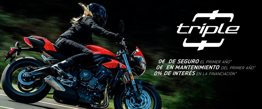 """La """"Triple 0"""" de Triumph se multiplica en TODA LA GAMA STREET TRIPLE"""