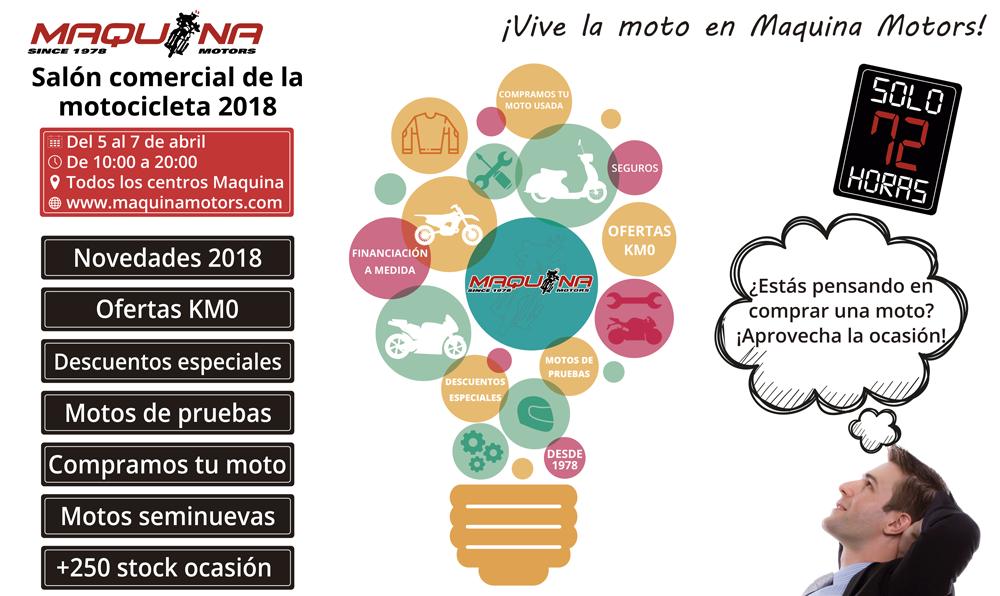 Este Año el SALON DE LA MOTO de BCN está en MAQUINA MOTORS