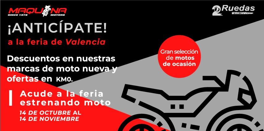 Anticípate a la feria de Valencia «Dos Ruedas»