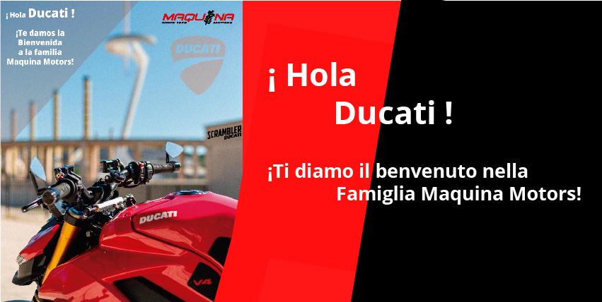 ¡Ducaticonfía en el grupo MaquinaMotorspara comercializar la marca en Barcelona!