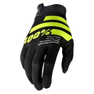100%<br>GUANTE ITRACK NEGRO/FUYW