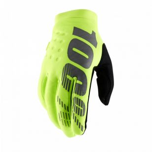 100% GUANTE BRISKER YOUTH AMARILLO FLUO