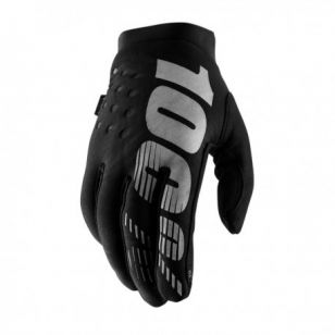 100%<br>GUANTE BRISKER YOUTH NEGRO/GRIS