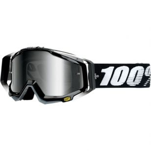 100% RACECRAFT GOGGLE ABYSS BLACK - CLEAR LENS