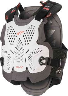 ALPINESTARS<br>A-4 MAX CHEST PROTECTOR WHITE ANTHRACITE RED M/L