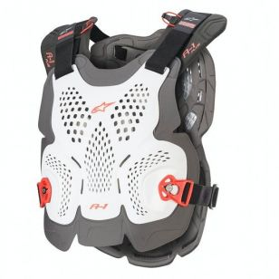 ALPINESTARS A-1 PLUS CHEST PROTECTOR WHITE ANTHRACITE RED M/L