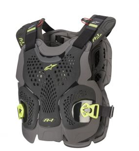 ALPINESTARS<br>A-1 PLUS CHEST PROTECTOR BLACK ANTHRACITE YELLOW FLUO M/L