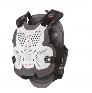 ALPINESTARS<br>A-4 MAX CHEST PROTECTOR - WHITE ANTH RED