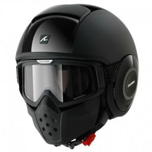 SHARK CASCO RAW DUAL NEGRO