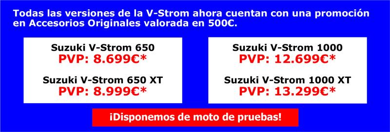 Ahora tu nueva Suzuki V-Strom 650 viene con 500€ de Regalo en Accesorios