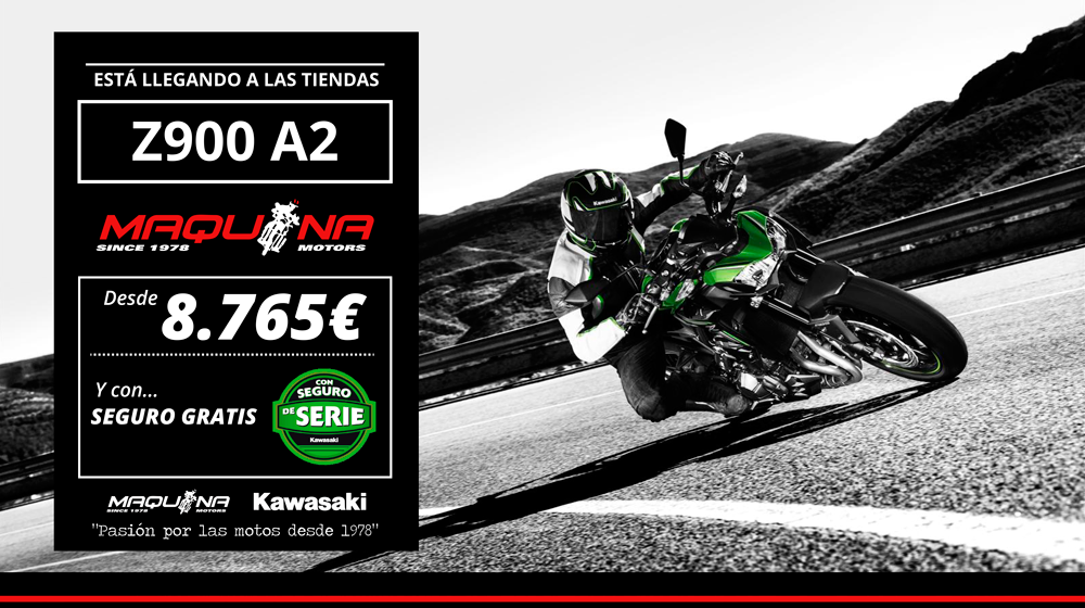 Z900 A2 ahora disponible a partir de 8.765€