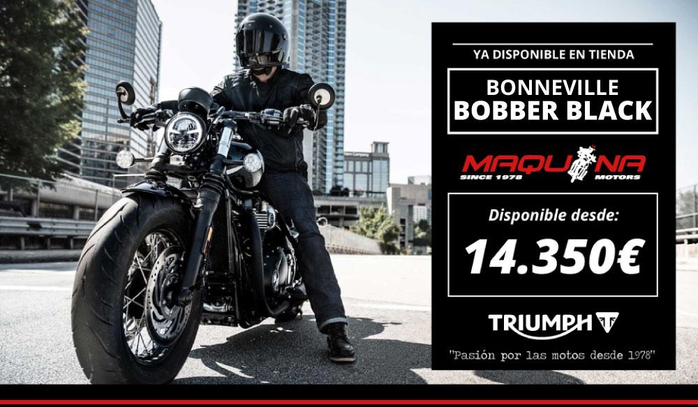 Promoción de Lanzamiento de Triumph Bonneville Bobber Black