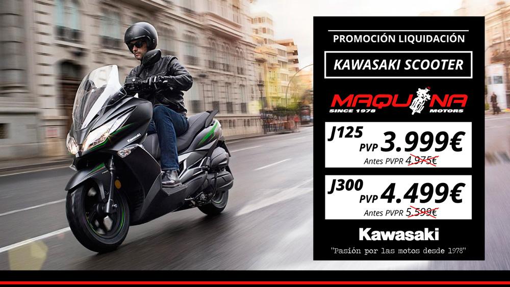 Las Gama Scooter de Kawasaki baja de precio este verano.