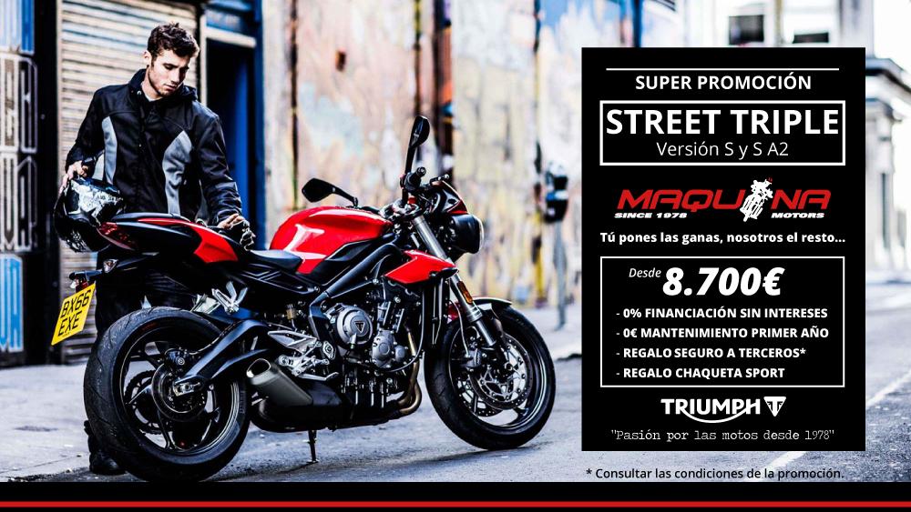 Promoción Novedad Street Triple 2018 S y S A2
