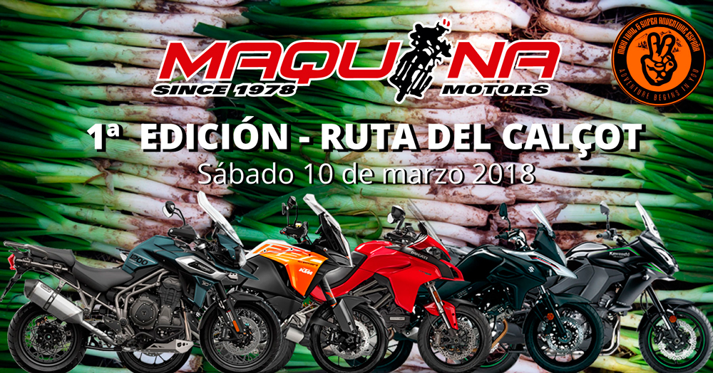 Ruta del Calçot - Salidas en Motos por carreteras Catalanas de Maquina Motors