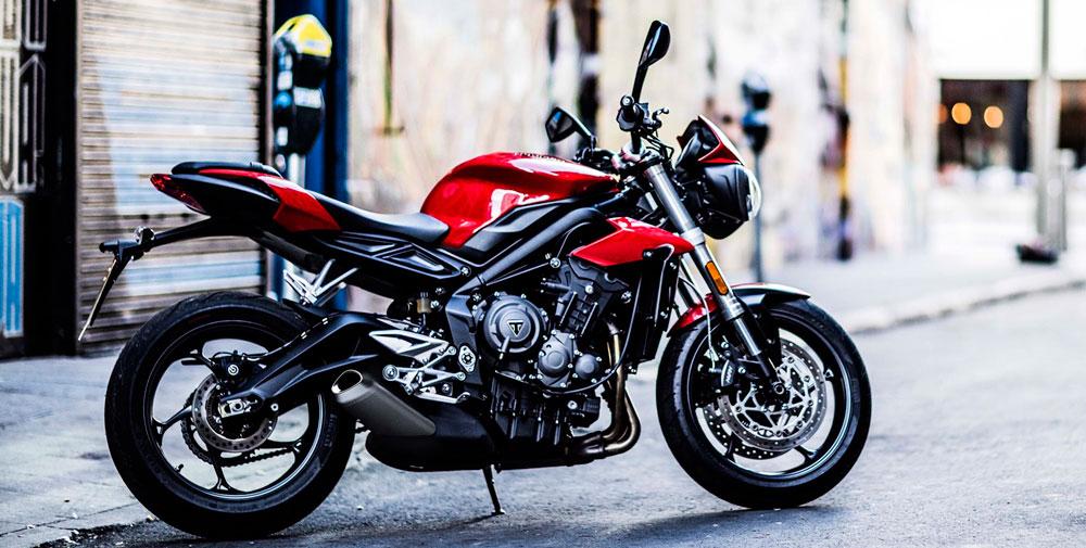 Novedad moto triumph street tripe