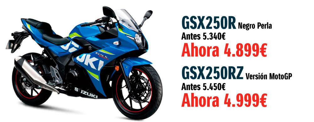 La moto Suzuki GSX250R