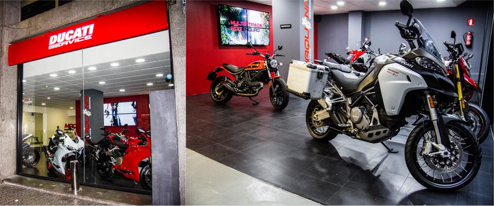 Exposición de motos Ducati en Maquina Motors 2