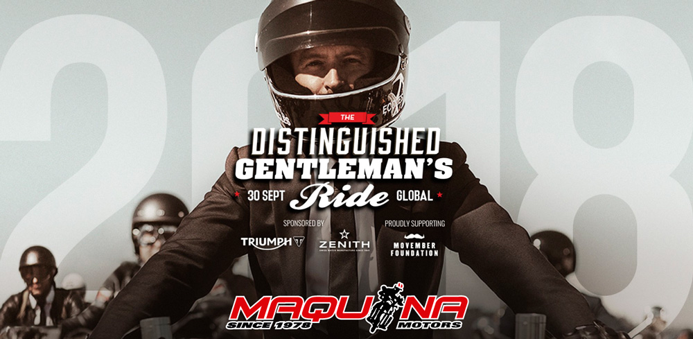 Maquina Motors en el Distinguished Gentleman's Ride 2018