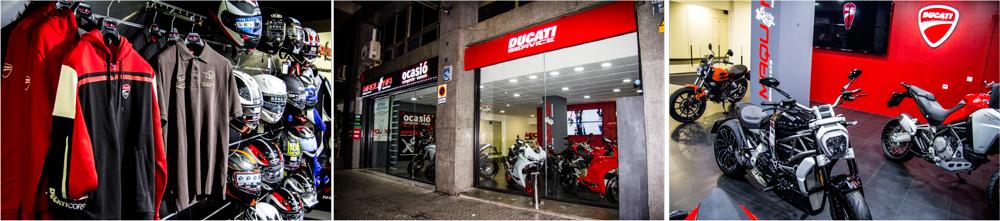 Exposición, entrada y motos Ducati en Maquina Motors Barcelona