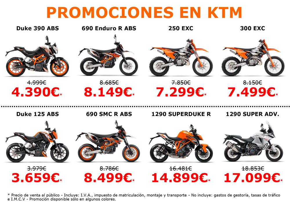 Promociones KTM para el Black Friday 2016