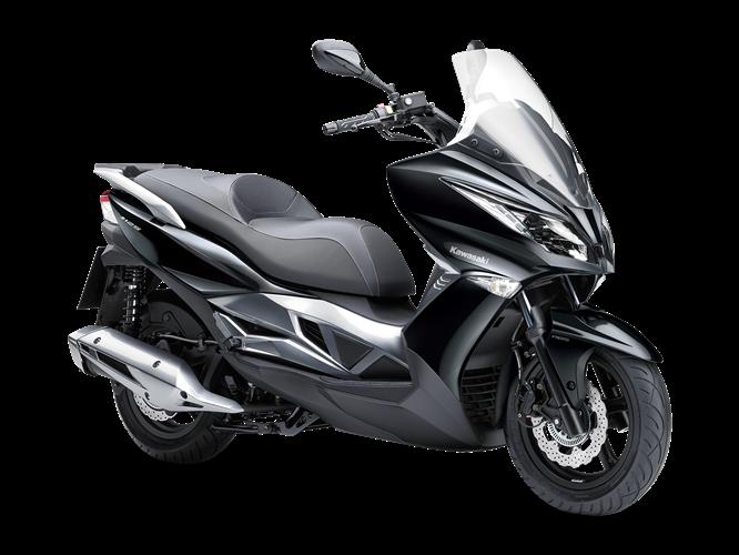 Moto Kawasaki J125 de color negro
