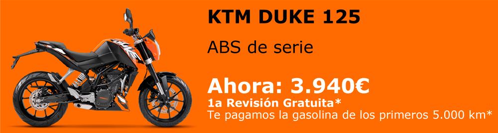 Promoción en oferta de la Nueva KTM Duke 125