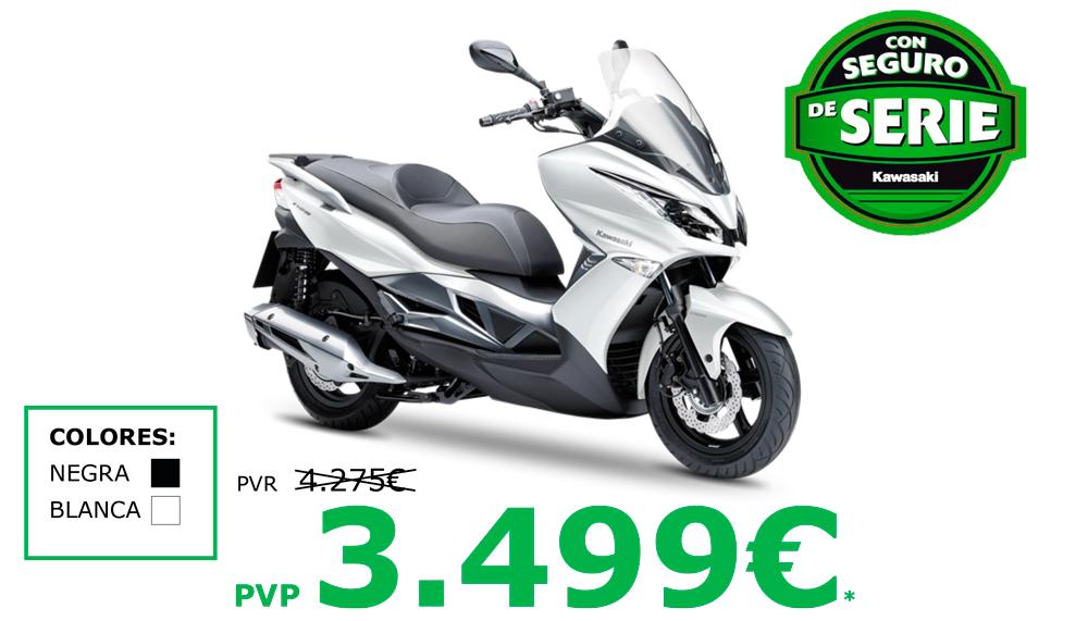 Ofertas en moto scooter Kawasaki J125 con seguro gratis por sólo 3499€
