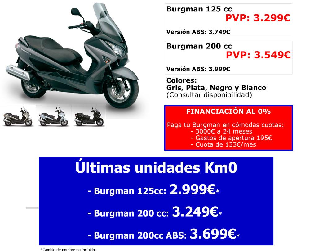 Promoción especial Suzuki Burgman 125/200cc enero 2016