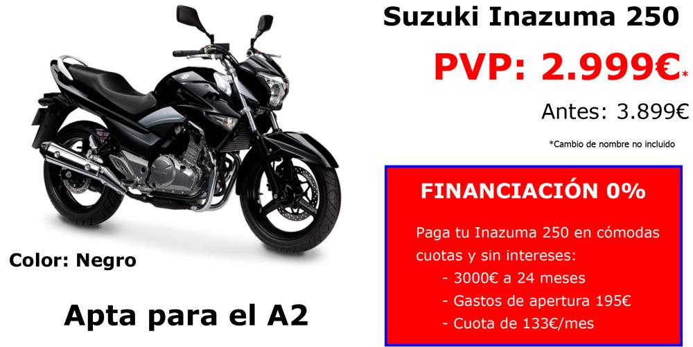 Promoción Febrero 2016 Suzuki Inazuma 250cc en Barcelona