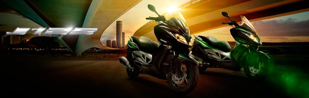 Nueva moto scooter Kawasaki J125 ya disponible en los concesionarios Maquina Motors