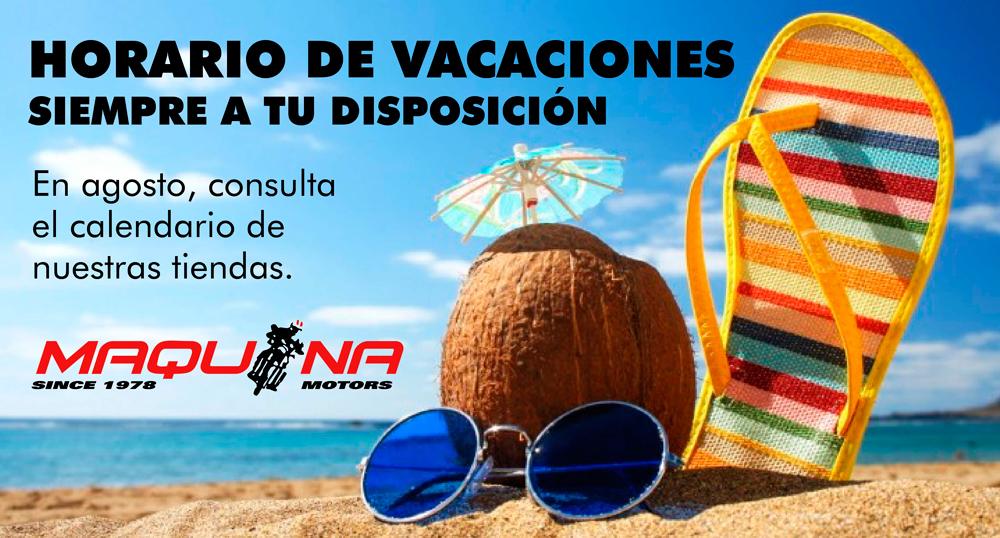 Horario especial de vacaciones Agosto 2017