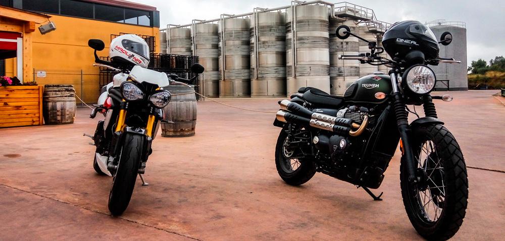 Motos Triumph Street Scrambler y Speed Triple 2017