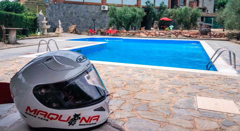Estupendo momento para disfrutar de un baño en la piscina.