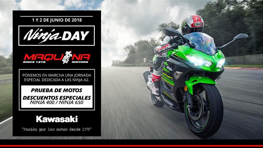 ¡Llegan los Ninja Days 2018 A Maquina Motors!