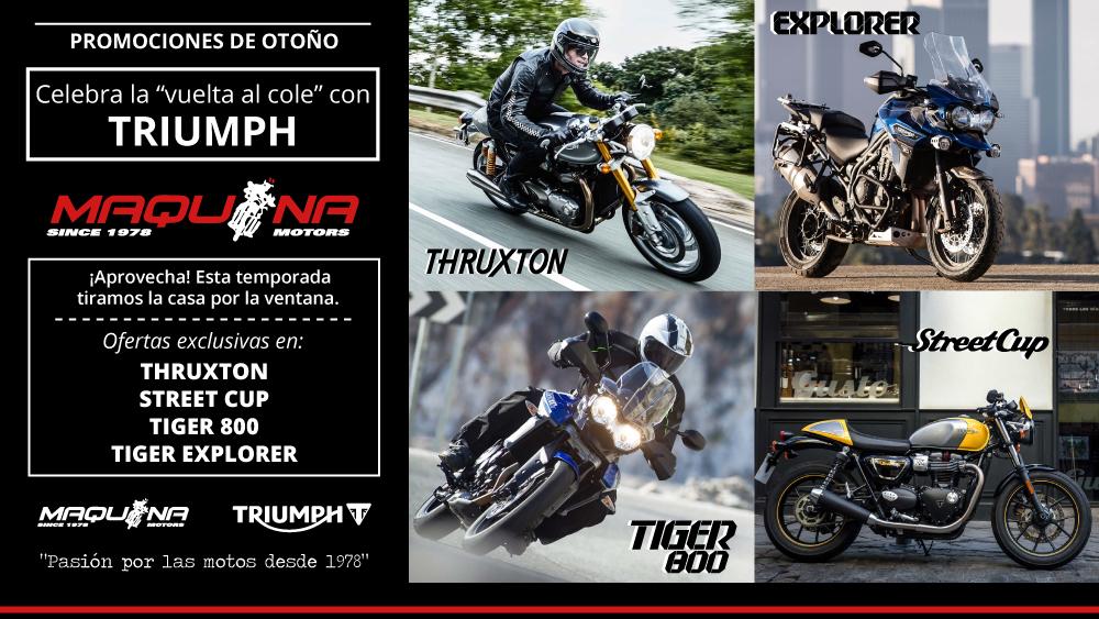 "Celebra la ""vuelta al cole"" con Triumph y Maquina Motors"