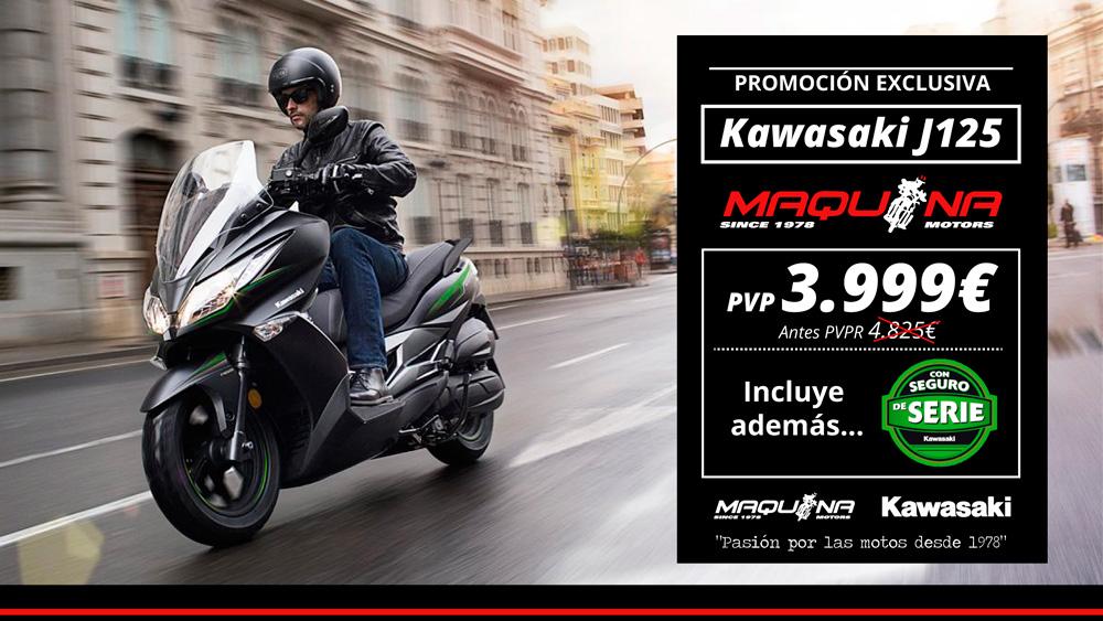 Nueva Kawasaki J125 ahora mejor que nunca: 3999€ + Seguro Gratis