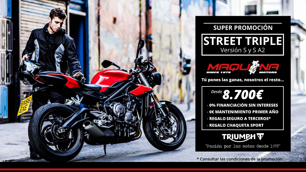Triumph Street Triple - Promoción Febrero 2018