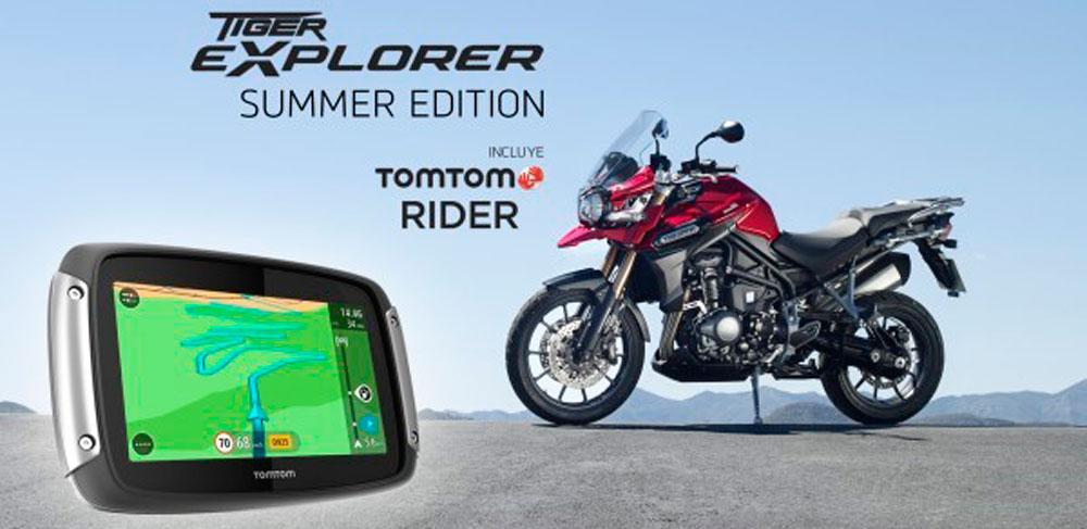 TIGER EXPLORER SUMMER EDITION CON TOMTOM RIDER 400 DE SERIE