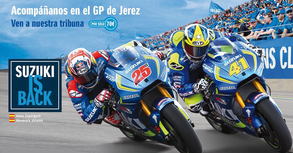 Acompaña al equipo suzuki al premio de MotoGp de Jerez y Montmeló