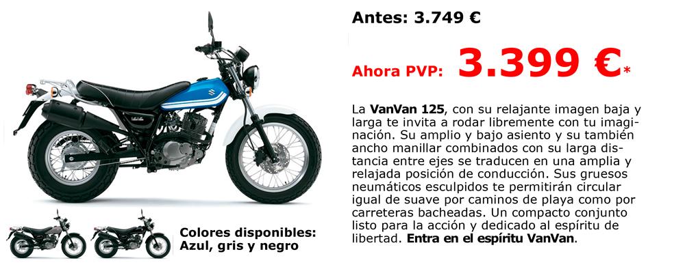 Promoción Suzuki / Van Van 125 desde 3.399€